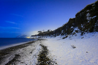 The Shanganagh Cliffs in Shankill looking south towards Bray in Co. Wicklow during the big snow of 2010.