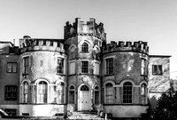 A black and white version of Shanganagh Castle.